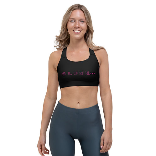 PLUSH•FIT | Sports Bra (Black, Pink)