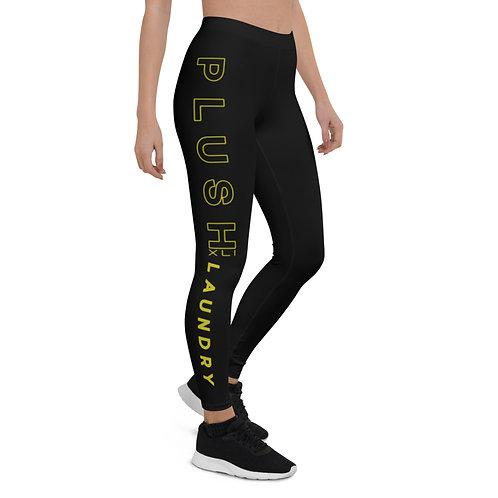 PLUSH LAUNDRY   Leggings (Black, Lemon)