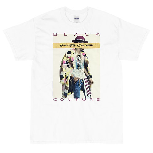 Black Couture, Stay Fly Collection   T-shirt   (White   Black)