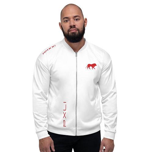 PXLI MMXXI | Bomber Jacket (White, Red)