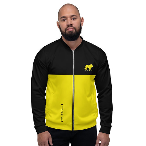 "PXLI ""Da Block""   Bomber Jacket (Black, Lemon)"