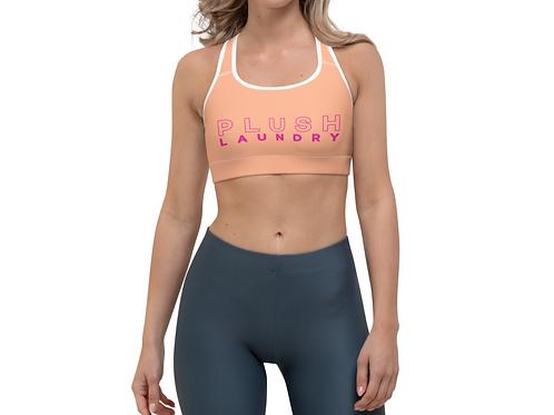 PLUSH LAUNDRY   Sports Bra (Coral, Pink)
