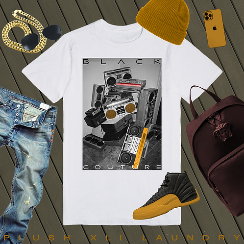 Black Couture - B Box Swag | T-Shirt (Black, White)