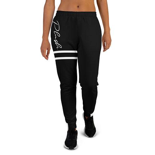 Plush Lateral | Women's Joggers (Black, White)