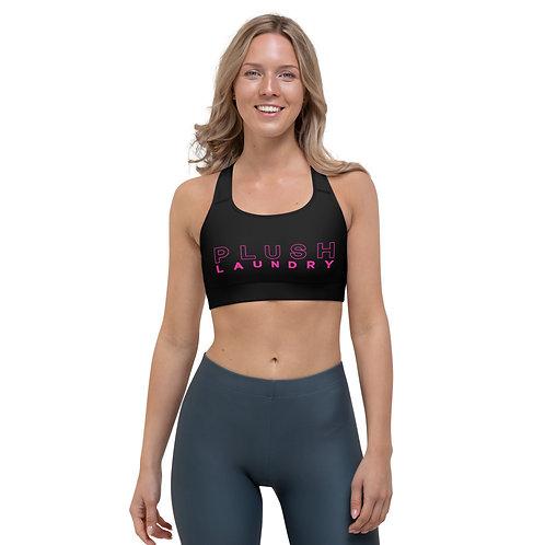 PLUSH LAUNDRY | Sports Bra (Black, Pink)