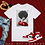 Thumbnail: Black Couture - Red Gloves | T-Shirt (White | Red)