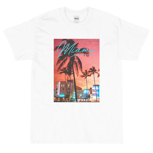 Miami Vice   T-shirt   (White   Black)