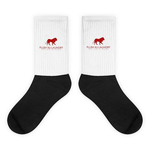 Plush XLI | Socks (White, Red, Black)
