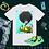 Thumbnail: Black Couture - Green Gloves | T-Shirt (White)