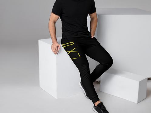 PXLI | Men's Joggers (Black, Lemon)