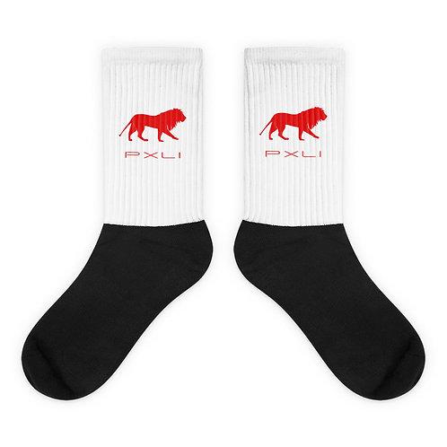 PXLI | Socks (White, Red, Black)