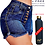 Thumbnail: Hot Girl Summer   Indigo Blue Denim Shorts