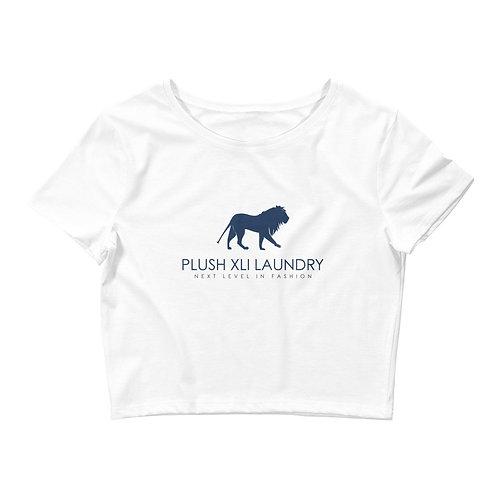 Plush XLI Laundry | Lion | Crop Tee-shirt (White, Navy)