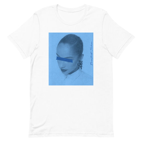 Blinded by Love Songz   T-Shirt   T-Shirt (White, Blue)