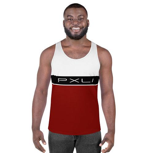 "PXLI ""Da Block"" | Tank T-Shirt (White, Black, Brick)"