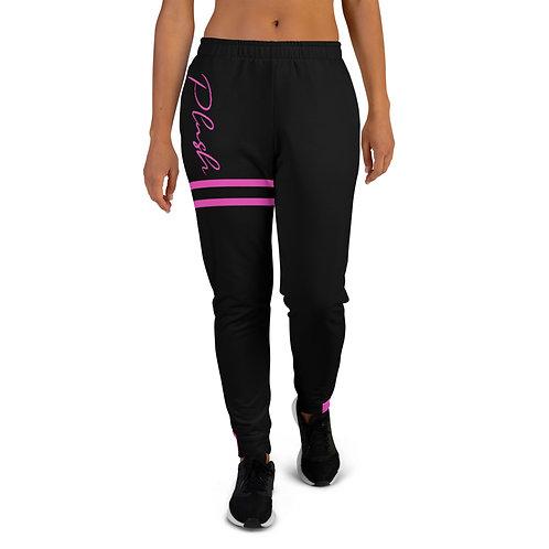 Plush Lateral   Women's Joggers (Black, Pink)