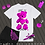 Thumbnail: Life is ROUGH Teddy | T-shirt (White, Pink)