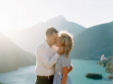 An Engagement – Diablo Lake and the Setting Sun