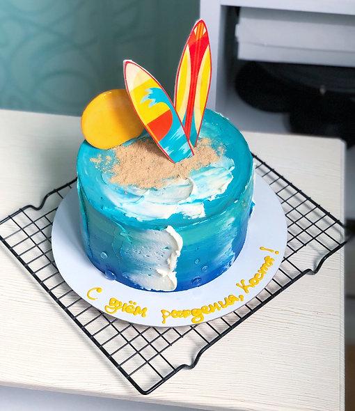 Торт для серфингиста