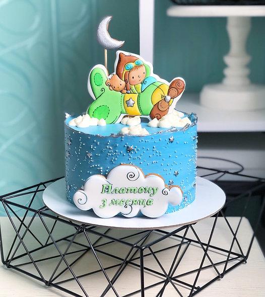 Торт для малыша с самолетом