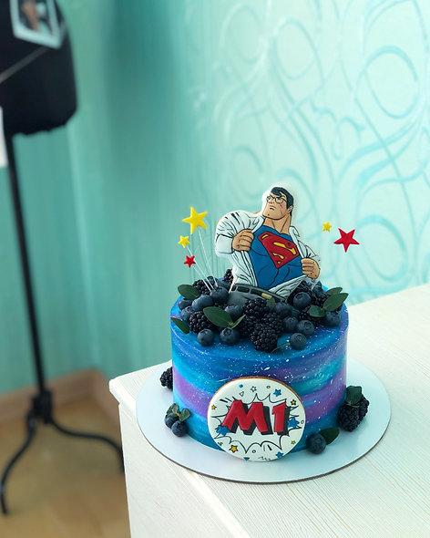 Торт космос Superman