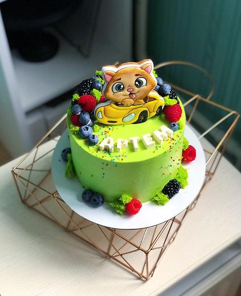 Торт для малыша с котенком