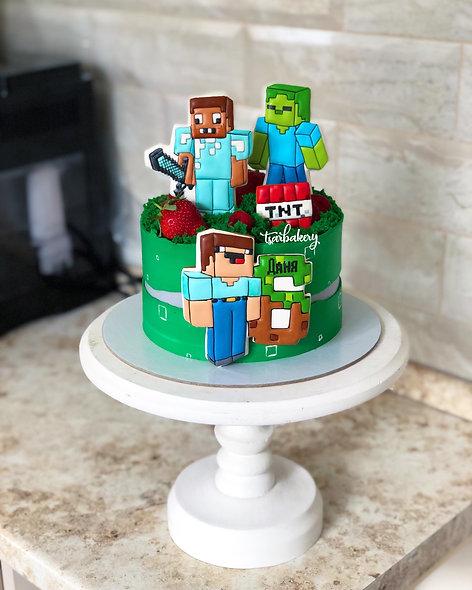 Торт Майнкрафт