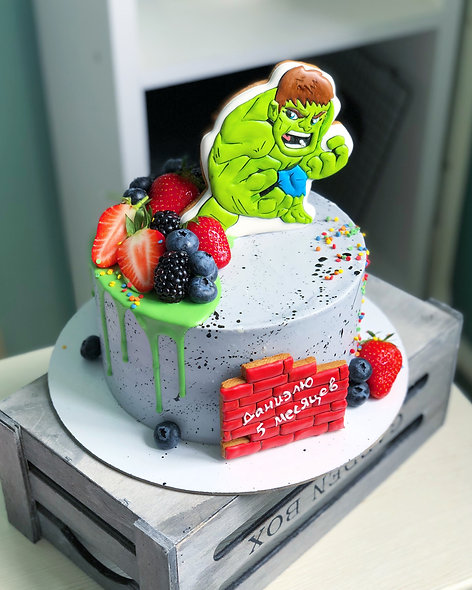 Торт супергерои: Халк