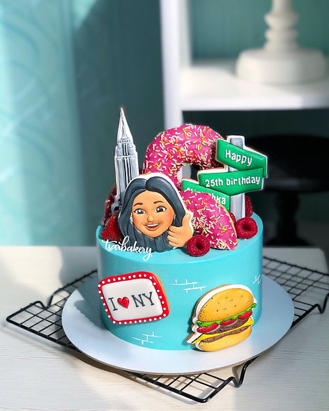 Торт Нью-Йорк с Memoji