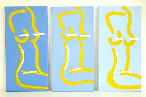 La Femme Nue, shades of blue