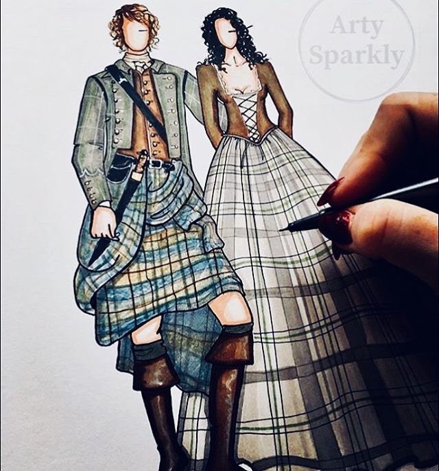#tbt to my other favourite Scotsman!! _outlander_starz _samheughan Jamie Fraser!! 💖💖 #Illustration