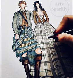 #tbt to my other favourite Scotsman!! _outlander_starz _samheughan Jamie Fraser!! 💖💖 #Illustration