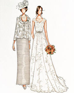 Mother of the bride custom illustration 💖 #customillustration #bridalillustration #weddingillustrat