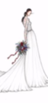 Bridal Illustration of Pippa Middleton
