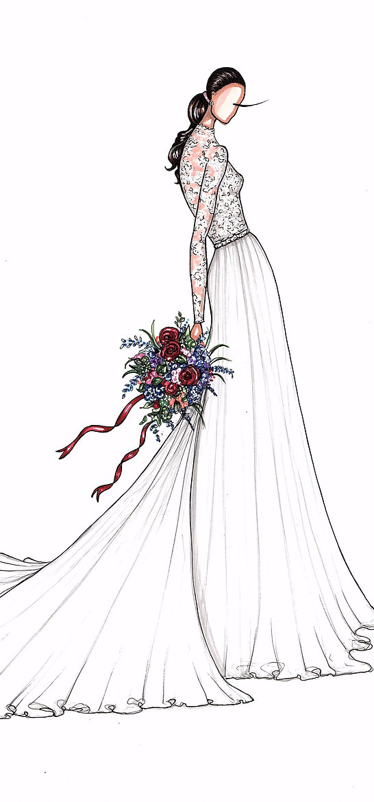 Bridal Illustration of Pippa Middleton