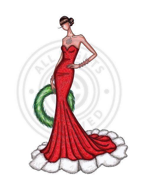 Mrs Christmas.       (Christmas card)