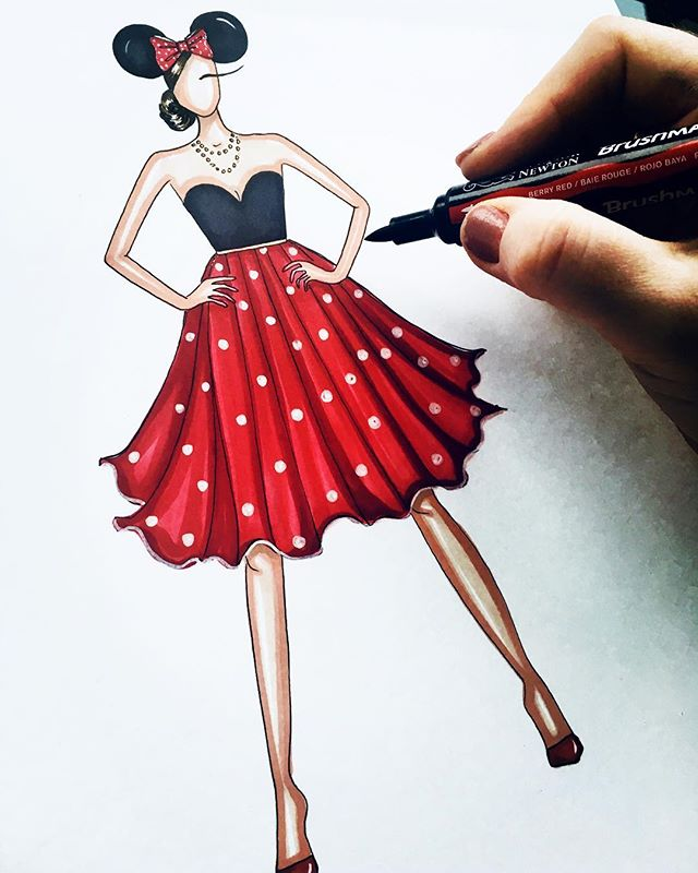 It Disney get better than polka dots!! WHO IS YOUR FAVOURITE DISNEY CHARACTER __ I might just sketch