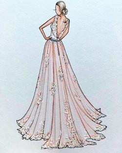 Kerilee gifted her friend a custom bridal illustration this week ...