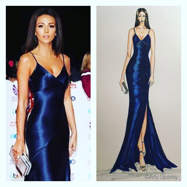 Michelle Keegan wearing Amanda Wakely