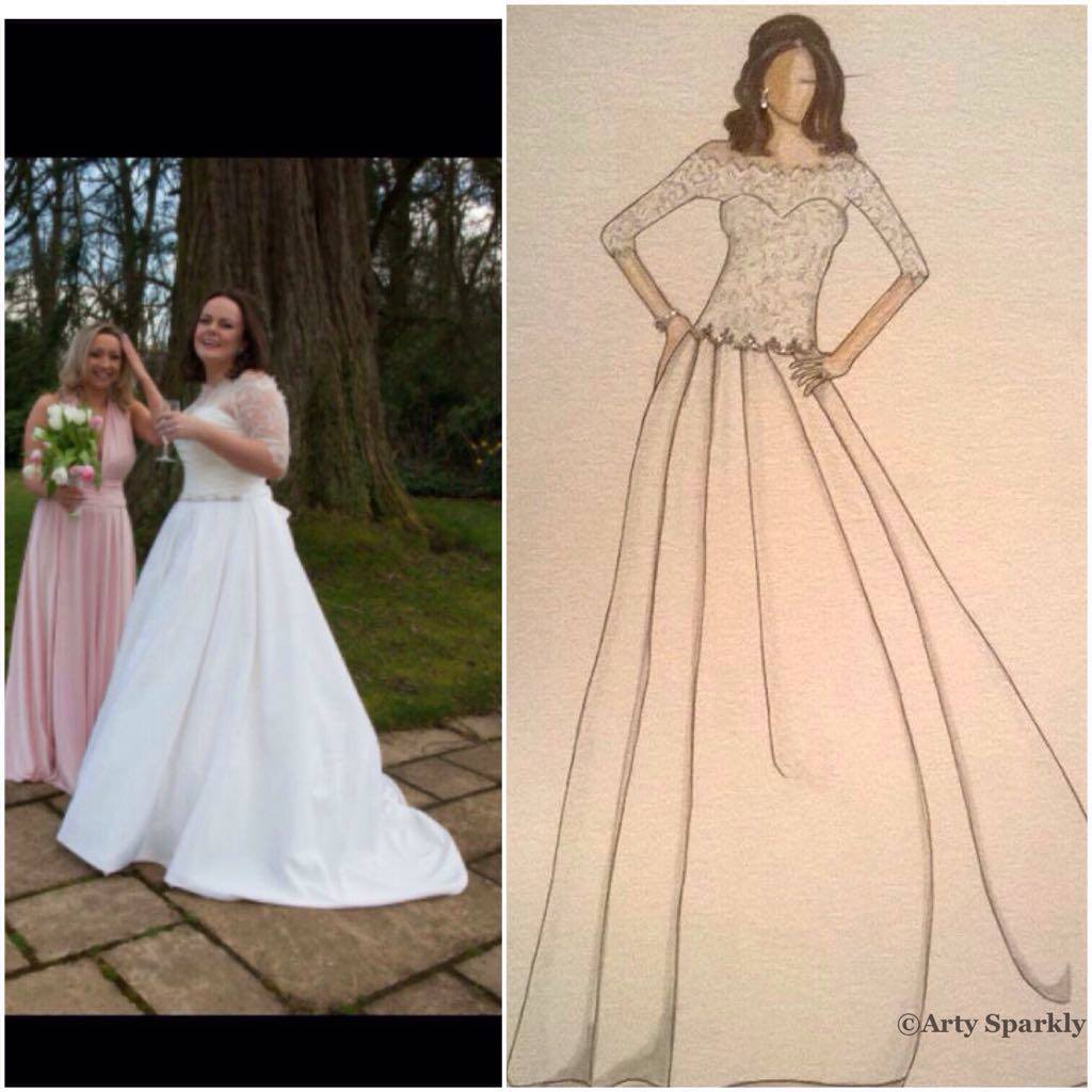 Emma Bespoke Bridal Illustration
