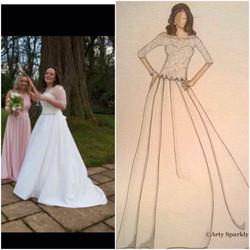 Emma Bespoke Bridal Illustration