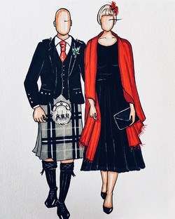 Tartan on Tuesdays! Nicola gifted both of her Sister in laws with a custom illustration 🎨💖 #custom