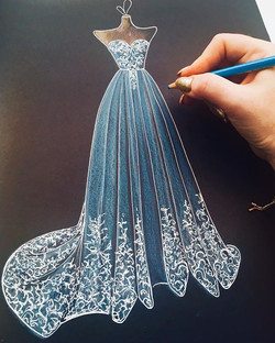 """MONDAYS aren't BLUE when they are PRETTY 💙✨ Gorgeous """"Aurora """" gown from _nutmegcouture_bridal 😍✨"""