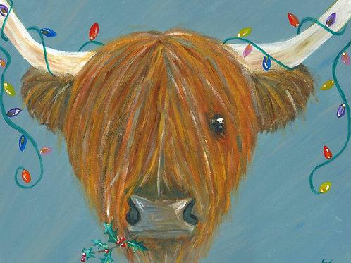 Highland Hairy Lights (Christmas Card)