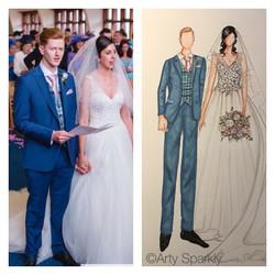 Custom Bride and Groom Illustration