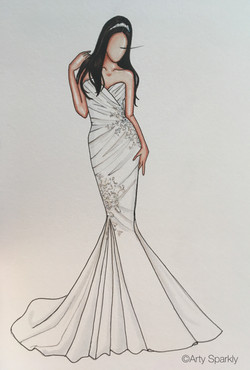 Custom illustration for Sarah