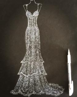 Mori Lee bridal illustration