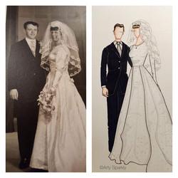 Mr and Mrs Lynch custom illustration
