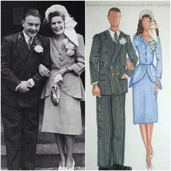 1940's Bride and Groom