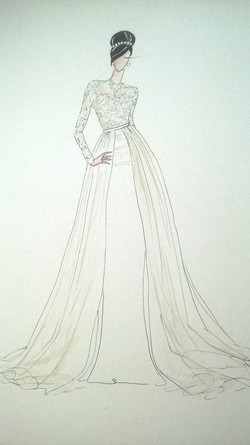 Bridal gown illustration